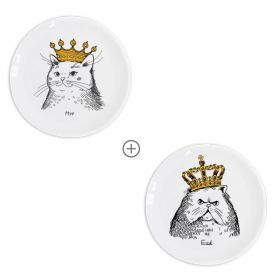 Cats in crowns Plate sets