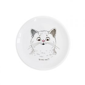 Surprised kitty Children`s plate