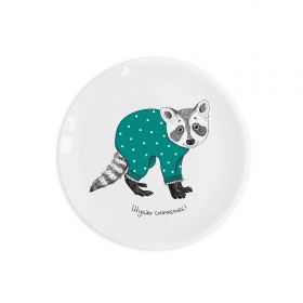 «Sweet tooth raccoon» children`s plate