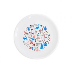 Ukrainian alphabet Children`s plate
