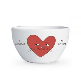 With love and soup bowl