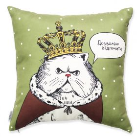 Cat in the crown Pillow