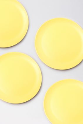 Set of plates Yellow 4 pieces