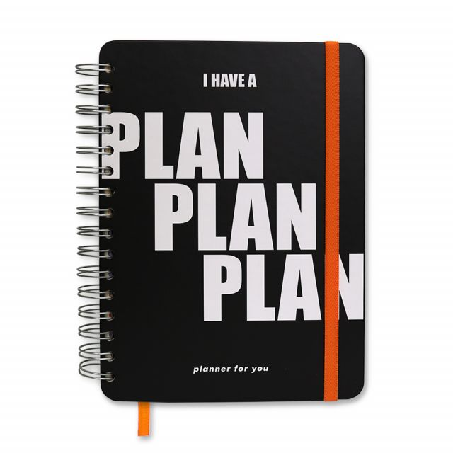 "Большой планер ""I have a PLAN PLAN PLAN"" black"